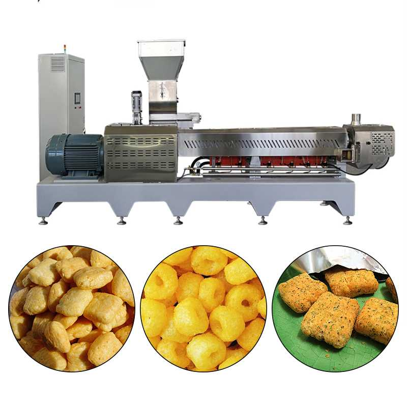 Self Cleaning Automatic Corn Flakes Making Machine Twin-Screw Extrusion For Cereal Flake