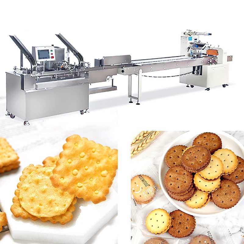 Vegetable Cookies Sandwich Biscuit Machine 220V380V With Siemens Motor