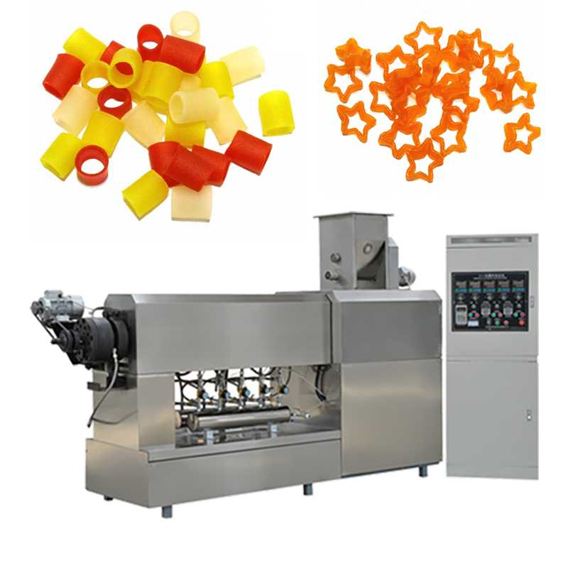 CE ISO 100-400kg/h Dough Forming Single Screw Extruder Machine Green Food Equipment