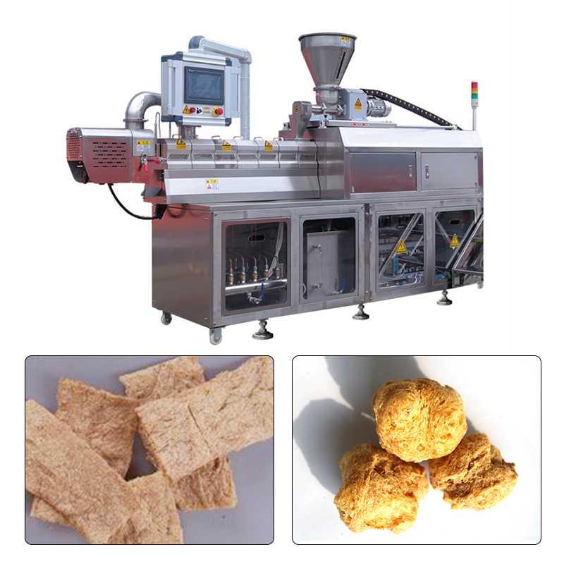 800-2000kg/h Soyabean Badi Making Machine With Double Screw Extruder