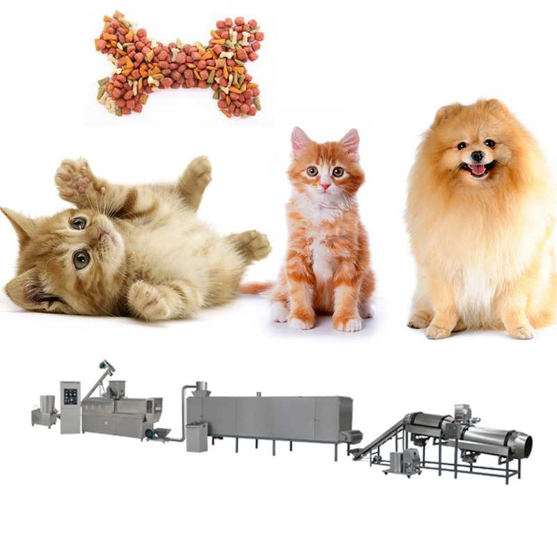 Industrial 120-800kg/h Pet Food Production Line Customized 380V/50HZ