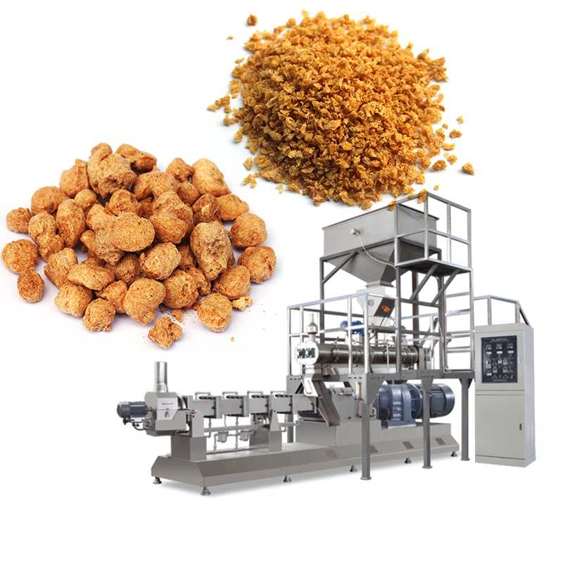Soya Protein Making Machine Extruded Soy Nuggets Production Line 55-110kw