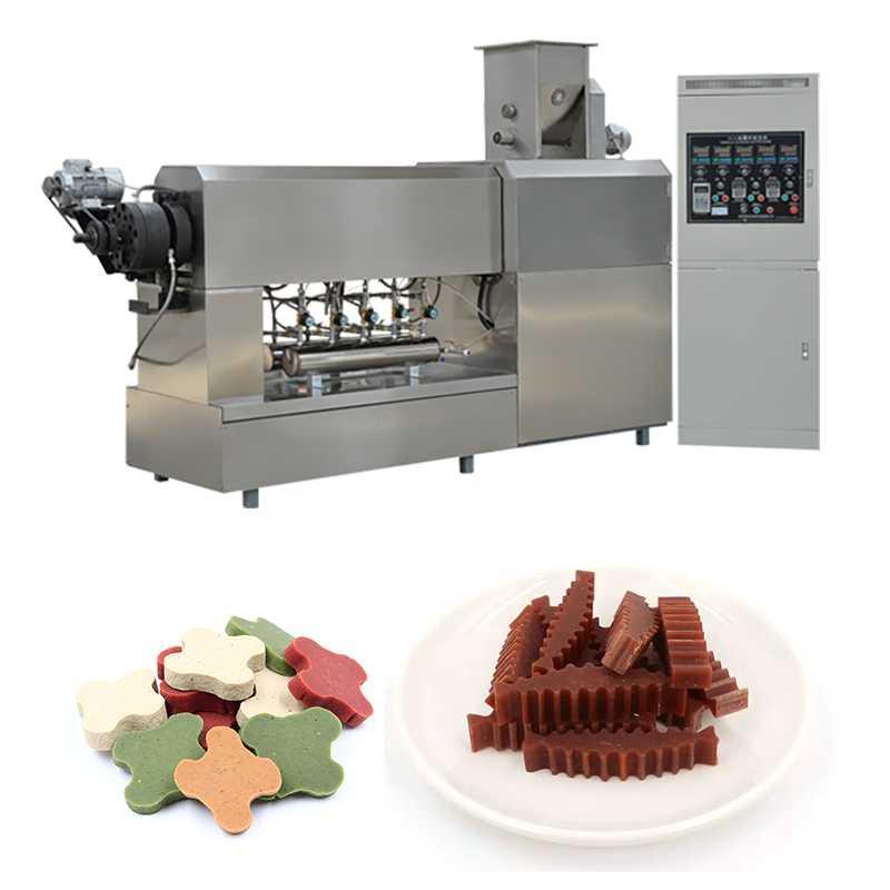 Double Screw Extruder Dog Treat Making Machine Animal Pet Food Production Line