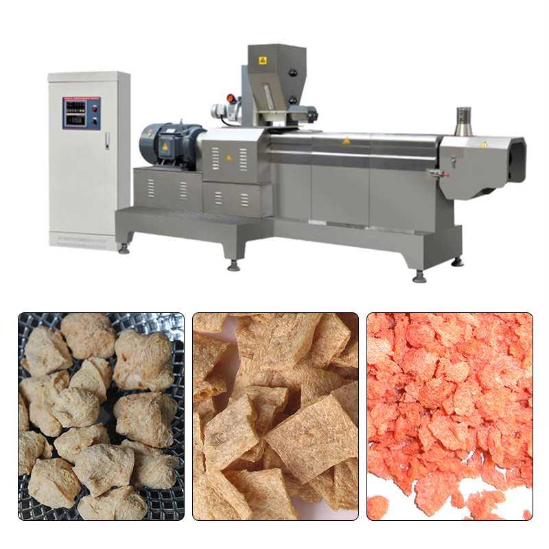 11-20kw Automatically Textured Vegetable Protein TVP Line Machine 600-1000kg/h