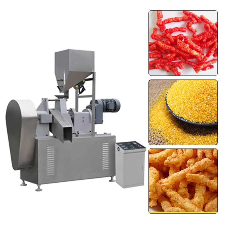 Snack Baked Kurkure Extruder Machine Kurkure Production Line Stainless Steel